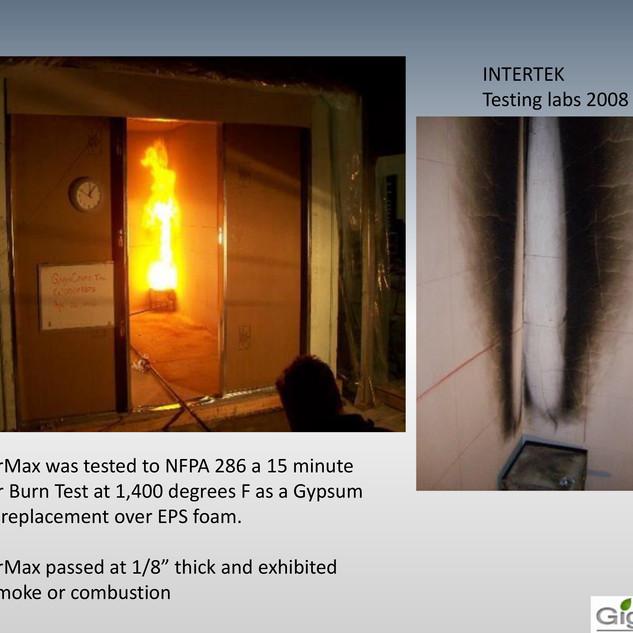 GigaLab Fire Test 1
