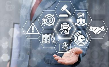 Compliance business concept. Businessman