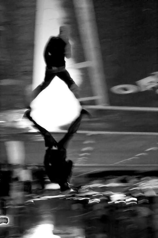 Yale Gurney, Shadow Man Walking, 2008-2009