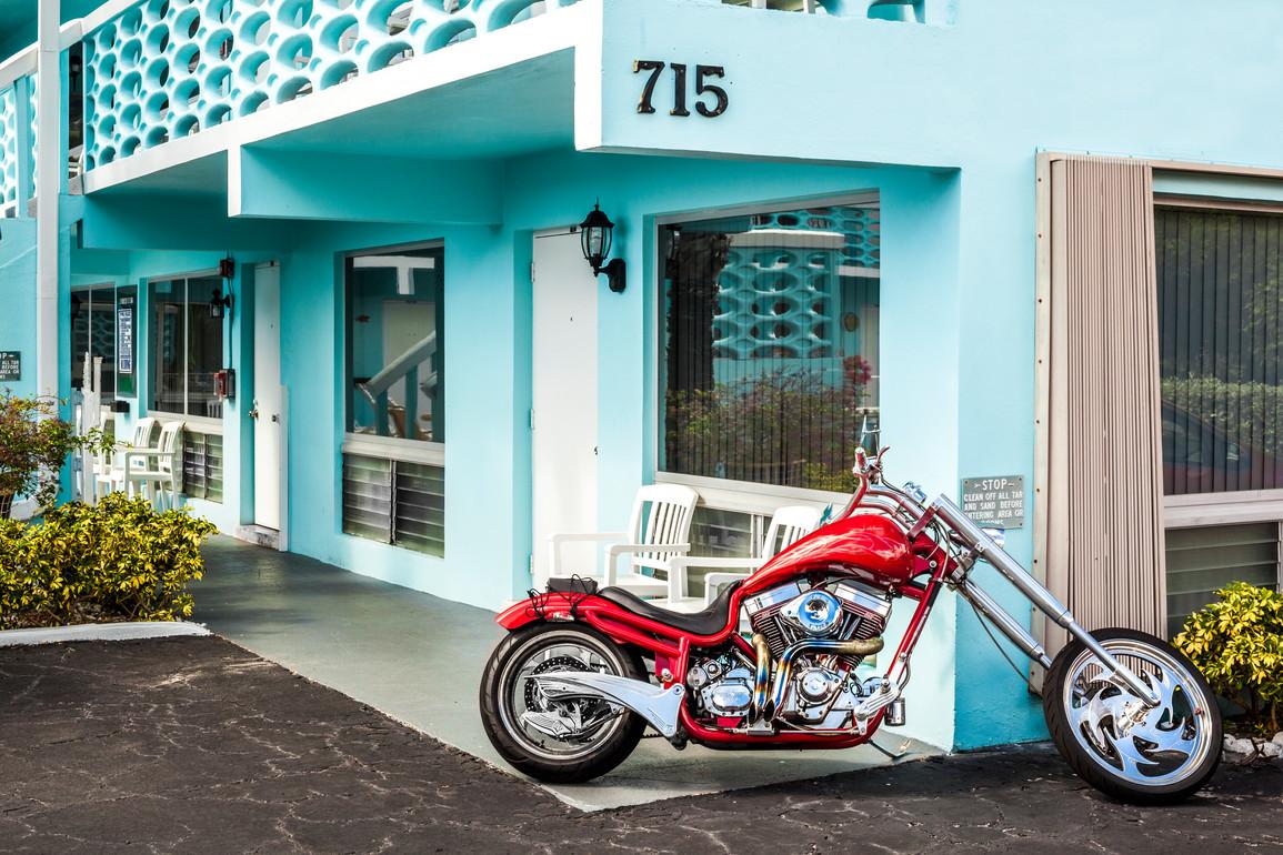 Yale Gurney, Motels: Red Motorcycle, 2017-2019