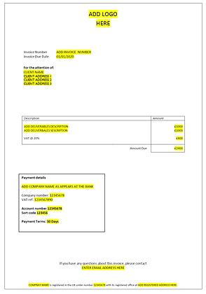 Easy Invoice Template