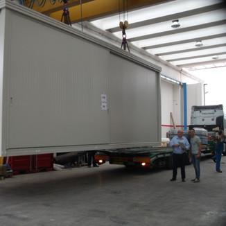 2014 - Blockheizkraftwerke in Container über Fähre Livorno nach Marroko
