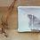 Détail lingette lavable CHEstnut en coton biologique par Inspir'haies artisan créateur textile français