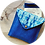 Aperçu recto pochette BLu indigo en coton Biologique par Inspir'haies