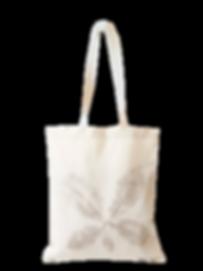 Sac tote bag en coton bio imprimé à la main, motif feuille de chataigner véritable