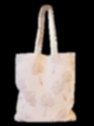 tote bag Lin Bio Inspir'haies motif pissenlit, imprimé à la main avec pigments végétaux