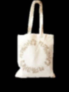 Tote bag coton Bio imprimé en France, motif couronne de feuillage en teinture naturelle