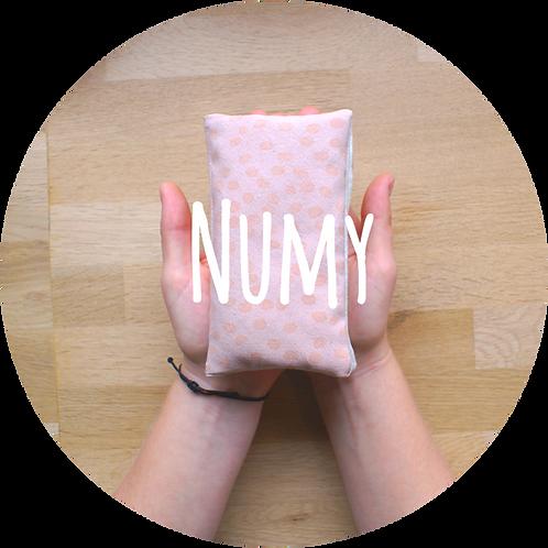 Petite bouillotte sèche en coton biologique aux couleurs naturelles par Inspir'haies