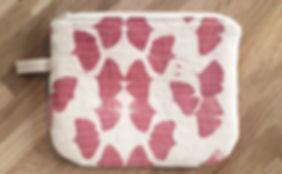 Trousse doublée coton bio imprimée au ca