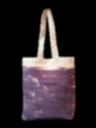 Sac tote bag Lin bio imprimé à la main, motif abstrait, pièce unique