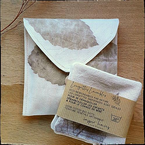 Pochette à savon CHEstnut en coton Biologique avec ses lingettes lavables