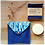 Pochette à savon BLu indigo et ses lingettes lavables en coton Biologique