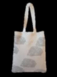 Sac cabas  Inspir'haies Made in France, teinture végétale artisanale avec pigments naturels, motif nuage