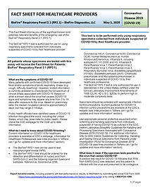 Fact Sheet for Healthcare Providers Pt.1
