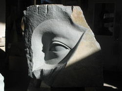 Mary, Bluestone (Installed at the Unison Arts Center)