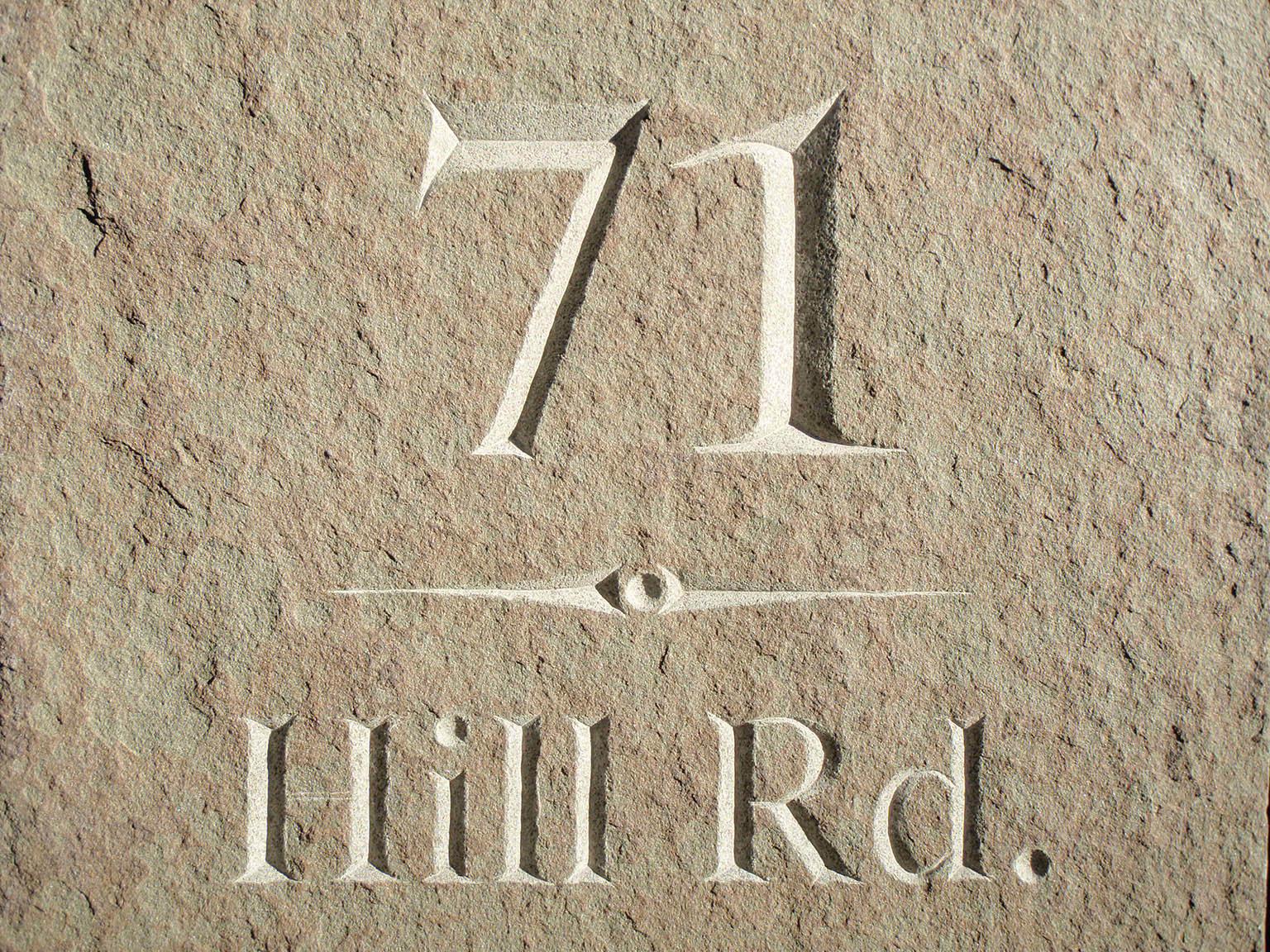Stone House Marker, Bluestone