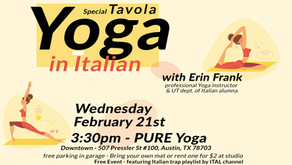 Tavola Italiana - Yoga in Italian with Erin Frank