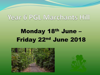 Year 6 PGL Marchants Hill Meeting Notes