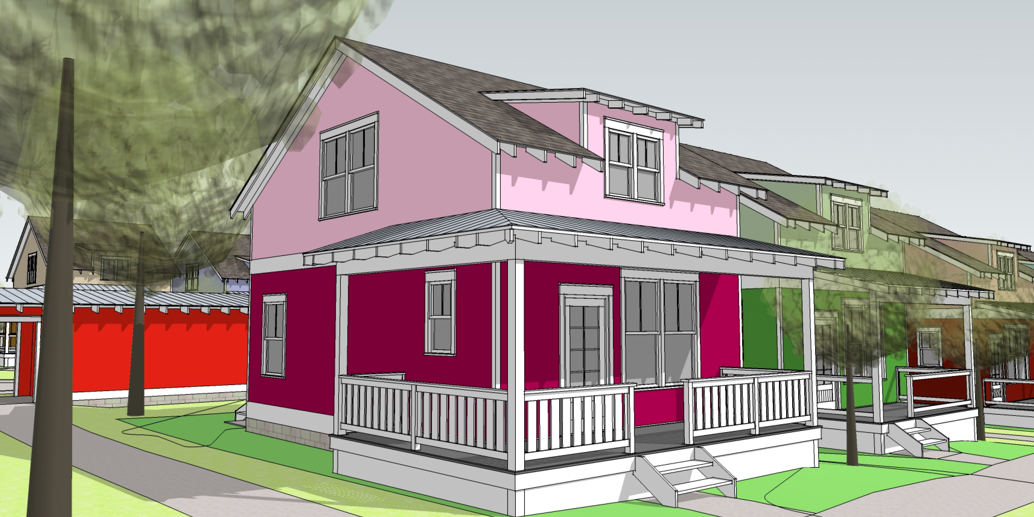 Cohousing Neighborhood Drawing