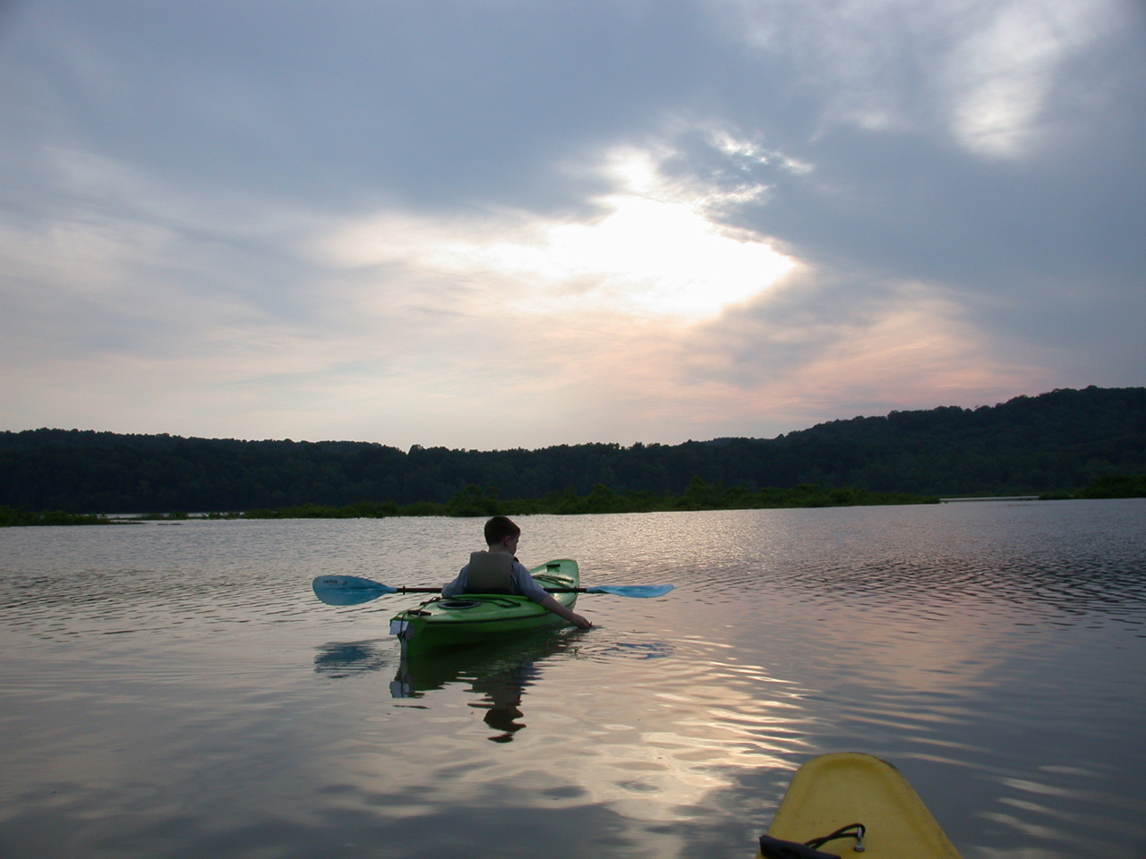 Kayaking at Lake Monroe