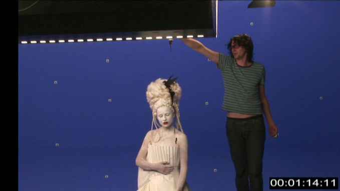 Lolly Jane Blue - Worms - behind the scenes - shoot