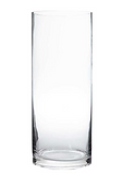 12in x 5in Large Glass Cylinder Vase