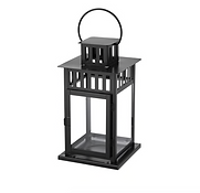 11in x 6in Black lantern for candle: Suitable for both indoor and outdoor use.