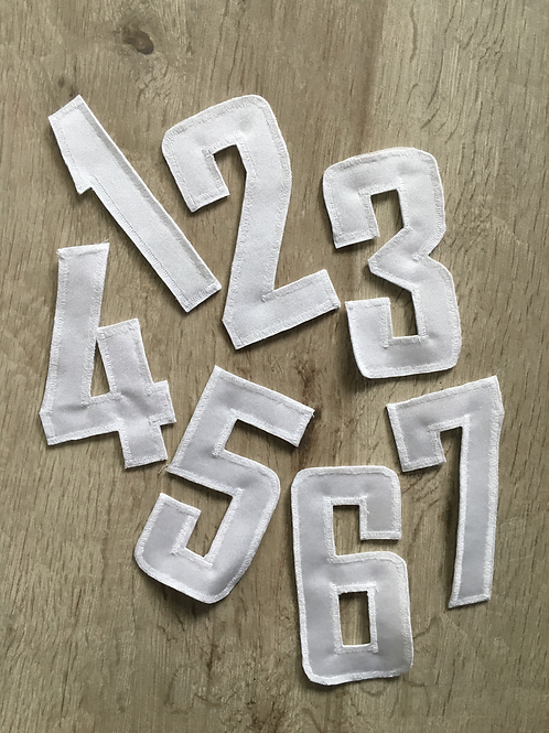 Startnummern 1-7 10cm