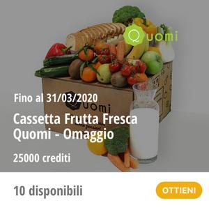 Quomi - Cassetta Frutta fresca in omaggio