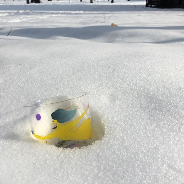 シトロンさんの雪かき