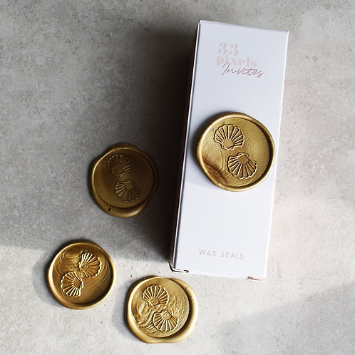 10 x Shells Wax Seals