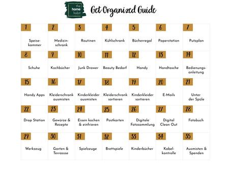 Get Organized Guide oder wie man die Corona Isolationszeit am besten nutzt
