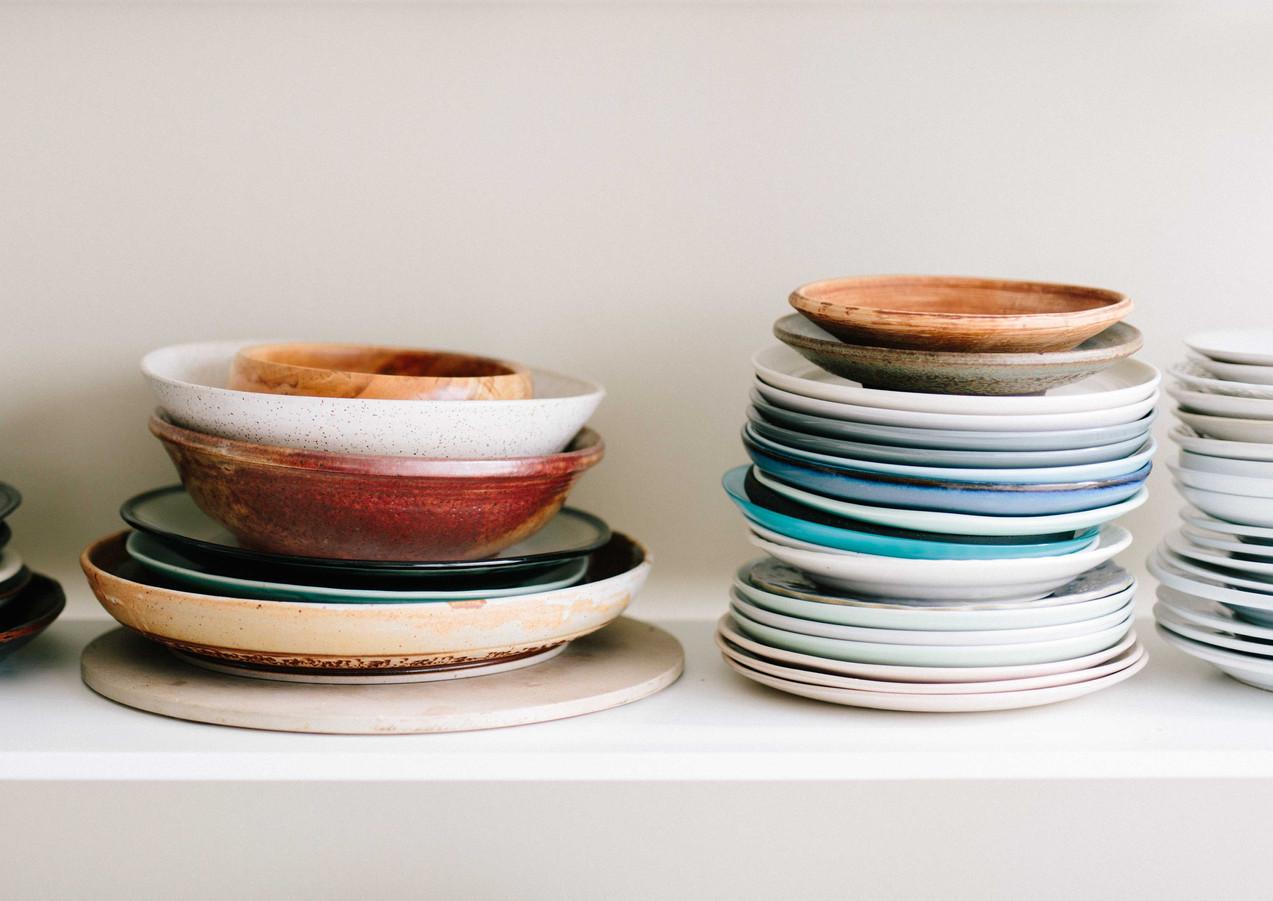 Küche Teller Ausmisten