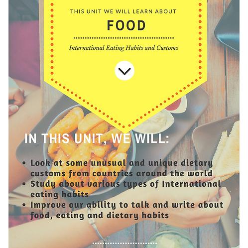 Food & Drink - English Reading Comprehension Bundle