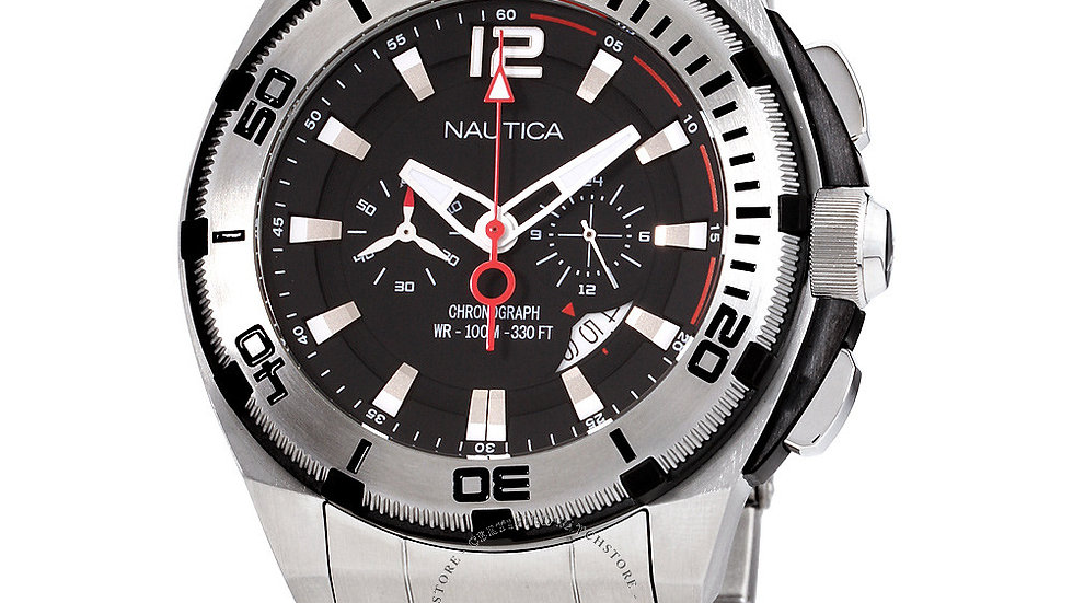 NAUTICA QUARTZ MOVEMENT BLACK DIAL A31517G