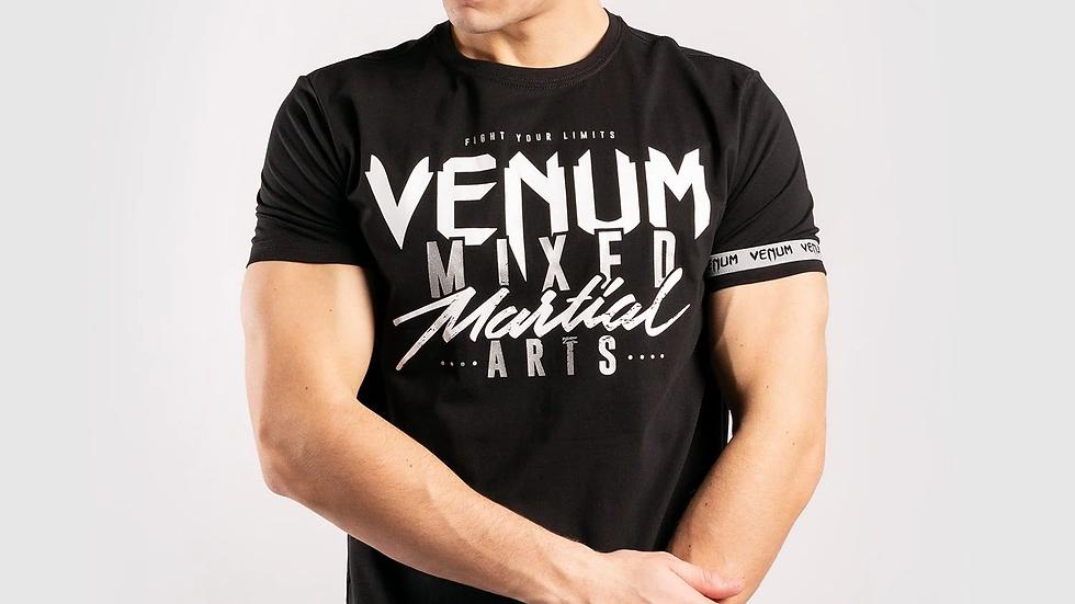 VENUM MMA CLASSIC 20 T-SHIRT BLACK/SILVER