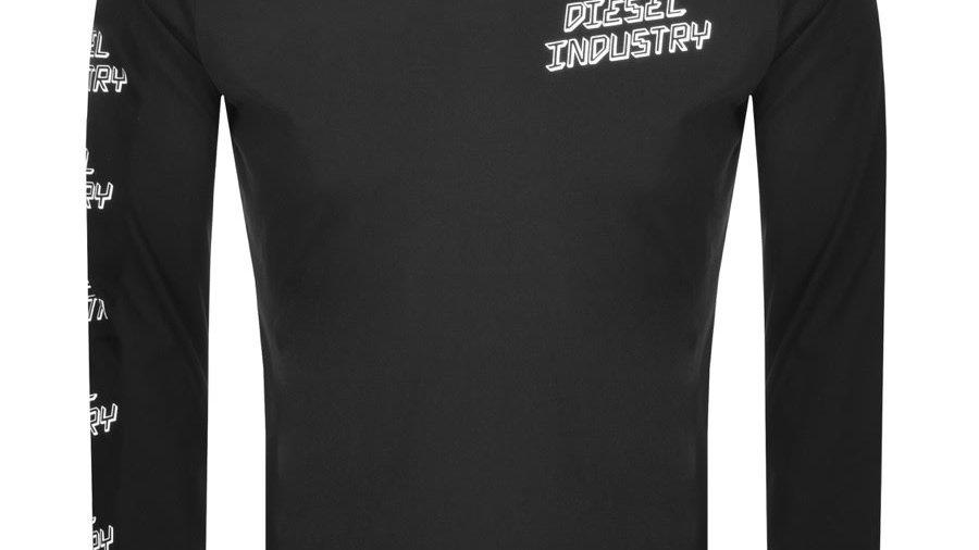 Diesel T Diego Long Sleeved T Shirt Black
