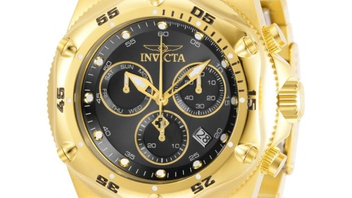Invicta Pro Diver Chronograph Stainless Steel Black Dial