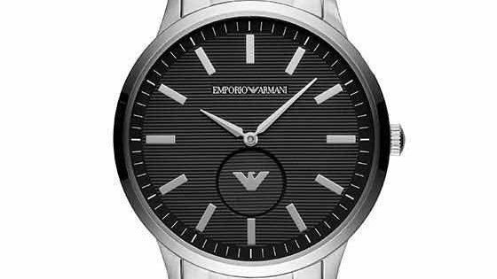 Armani Men's Stainless Steel Black Dial watch