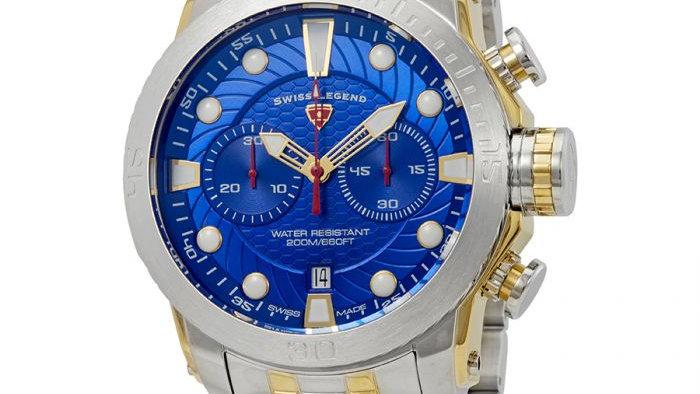 SWISS LEGEND Seagate Chronograph Blue Dial Watch