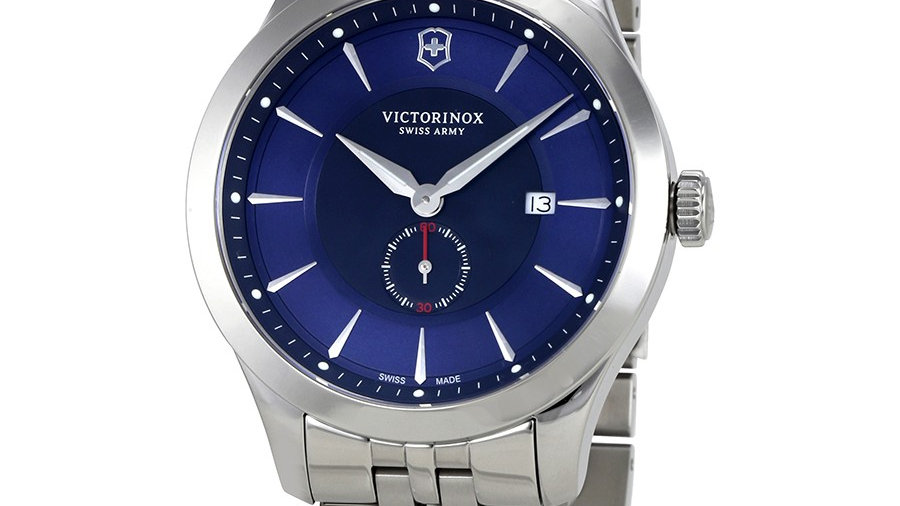 Victorinox Men's Alliance Stainless Steel Blue Dial 100% Authentique