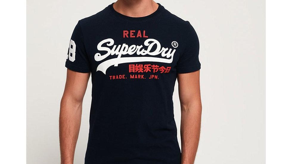 Superdry Vintage Logo Tri Navy Blue T-Shirt