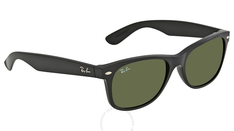 Ray Ban New Wayfarer Black 55mm Sunglasses RB2132 901L 55-18