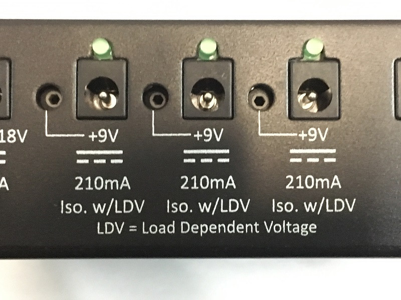 pedaltrain powertrain1250 - PT1250 - has three LDV zones