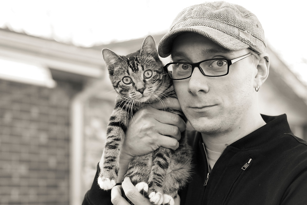 Despite appearances to the contrary, Ben did not eat this cat.