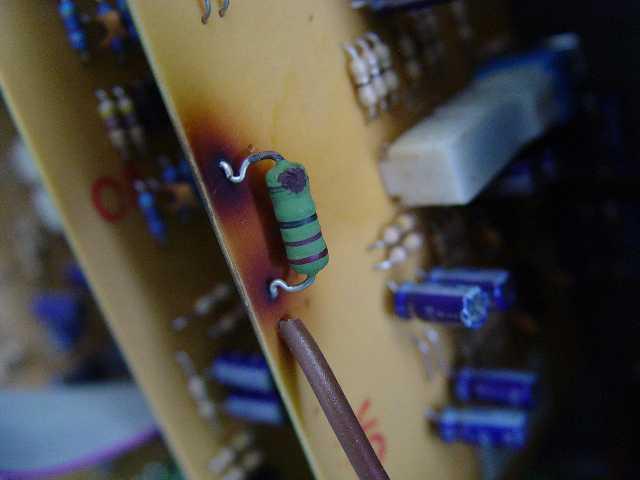 Burned resistor