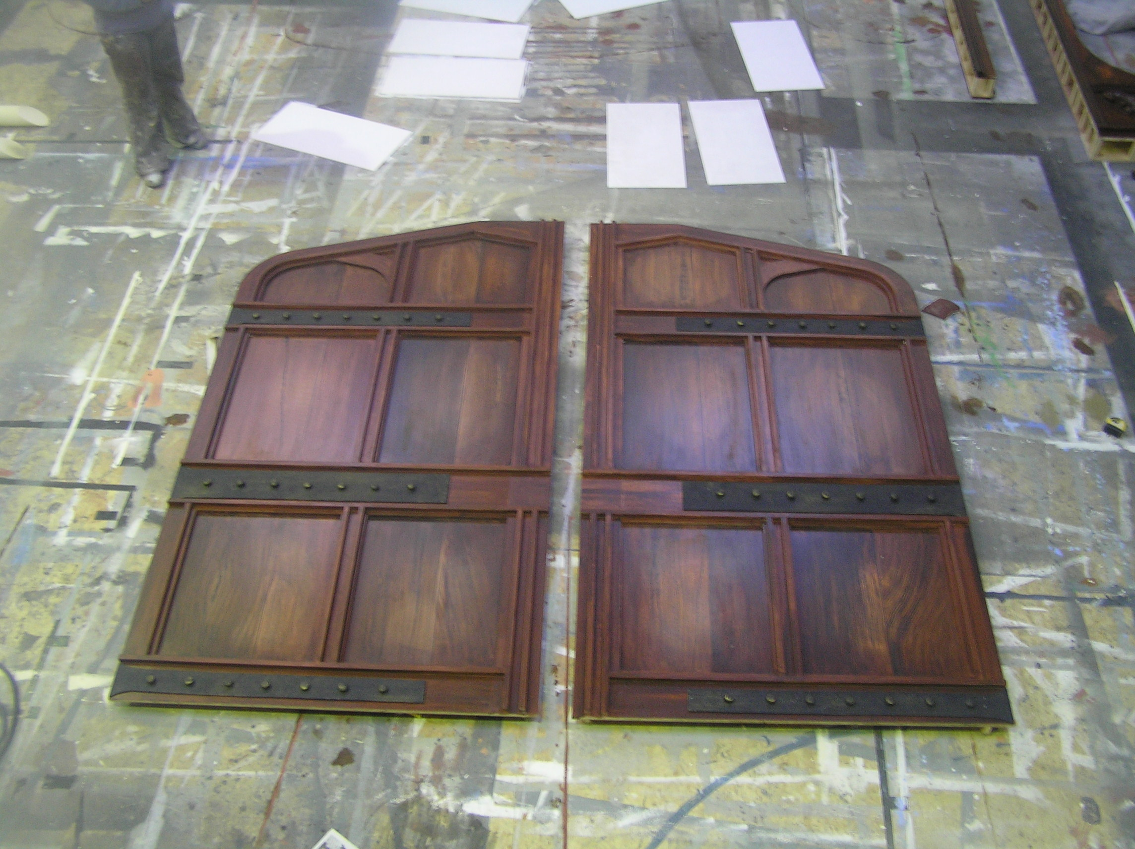 Wood effect doors