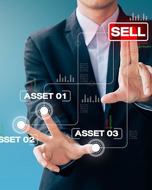 business man hand sign about sell asset,