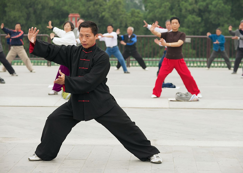 A daily habit of tai chi inspired by seeing tai chi in the park in the Beijing