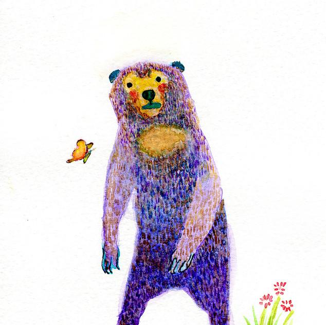 話しかけられるマレー熊